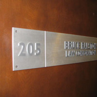 Brushed Aluminum Door Sign & Signs BC u2013 A Vancouver Sign Company u2013 Door Signs u0026 Desktop Name Plates pezcame.com